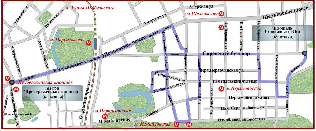 схема движения автобуса № 34
