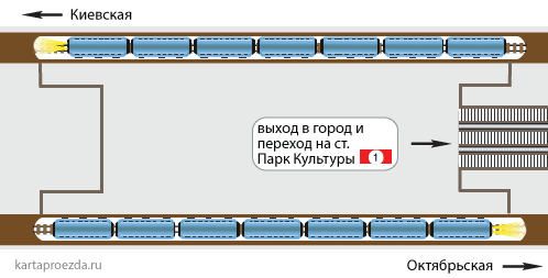 """на станцию """"Парк Культуры"""""""