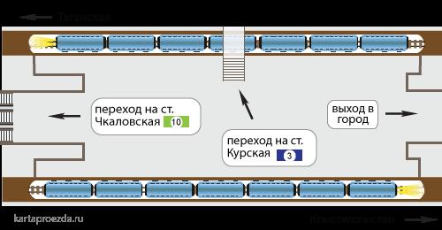 Схема метро курском вокзале фото 355