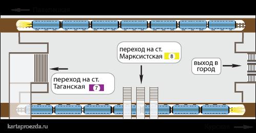 Схема зала и пересадки на