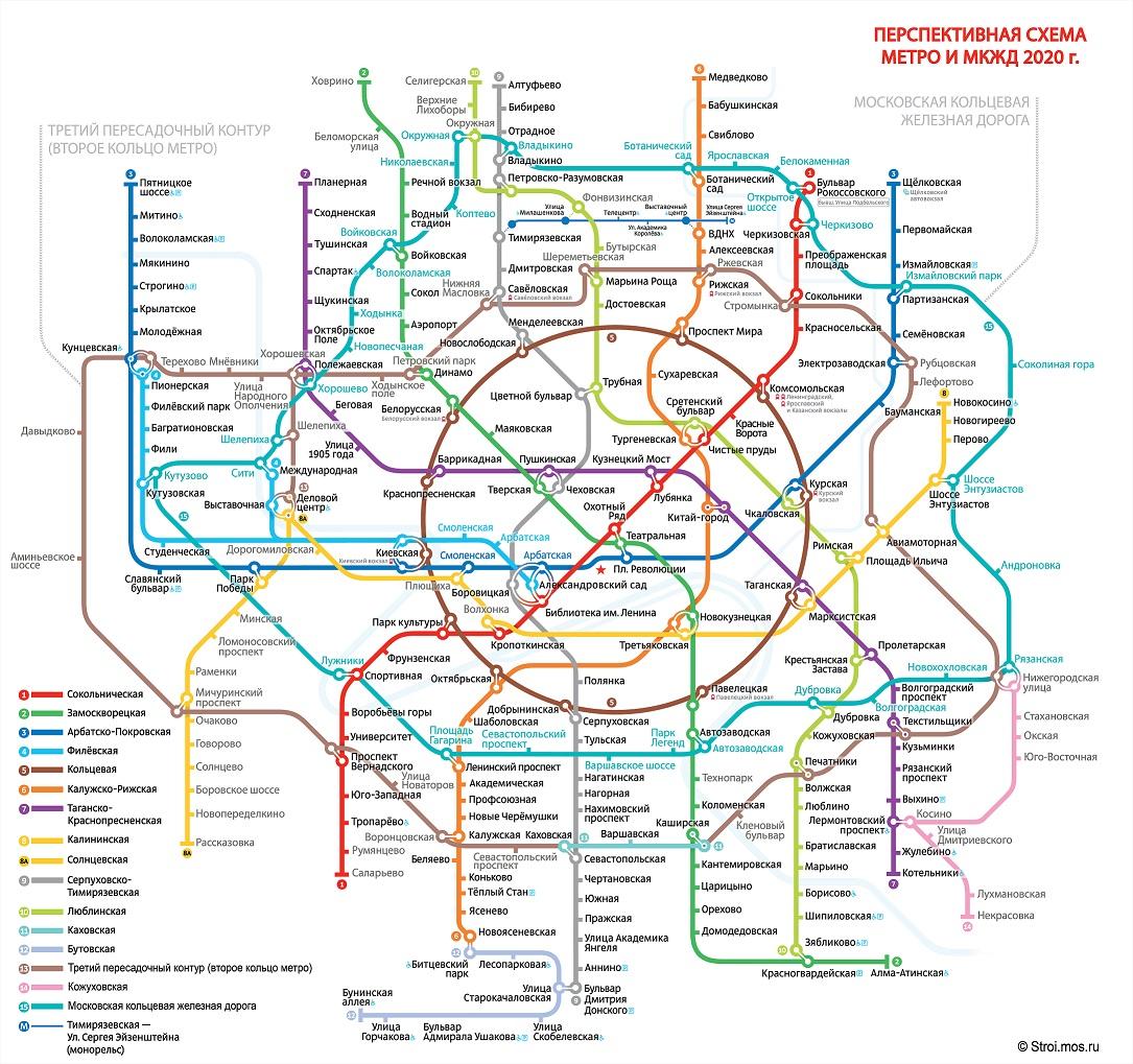 Большая карта метро Москвы 2017: все новые станции(схема)